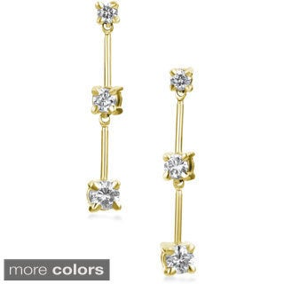SummerRose 14k Gold 1/2 ct TDW Graduated Diamond Dangle Earrings (H-I, SI2-I1)