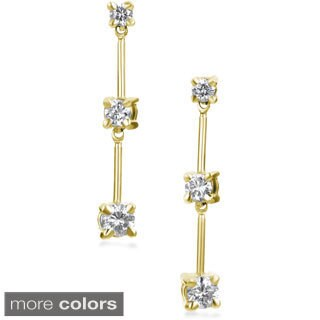 SummerRose 14k Gold 1/2ct TDW Graduated Diamond Dangle Earrings