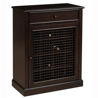 Walnut Cherry Finish Accent Wine Cabinet