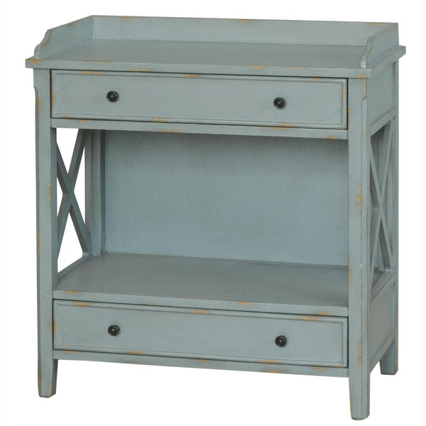 Shop Hand Painted Distressed Slate Blue Finish Accent