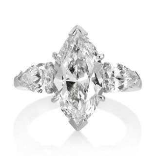 SummerRose Platinum 5 1/3ct TDW Diamond 3-stone Engagement Ring|https://ak1.ostkcdn.com/images/products/10067409/P17211862.jpg?impolicy=medium
