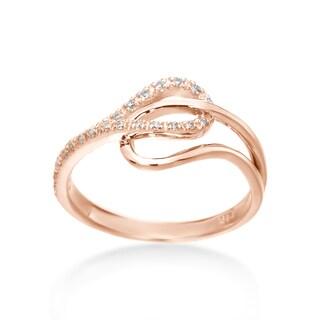 SummerRose 14k Rose Gold 1/6ct TDW Diamond Ring