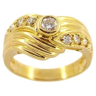 Kabella 18k Yellow Gold 1/2ct TDW Round Diamond Vintage Ring (G-H, SI1-SI2)