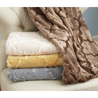 Montpelier Collection Ultra Velvet Plush Luxury Sculpted Throw Blanket by Home Fashion Designs