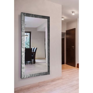 American Made Rayne Extra Large Safari Silver Wall Mirror