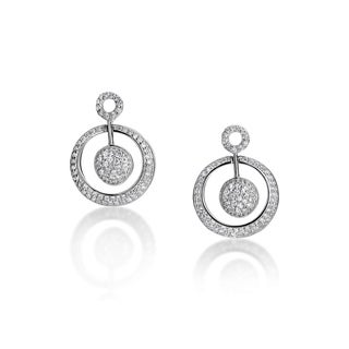 SummerRose 14k White Gold 1ct TDW Diamond Circle Earrings (H-I, SI1-SI2)