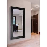 American Made Extra Large 39 x 78-inch Black Satin Wide Vanity Wall Mirror - Satin Black