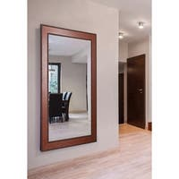 American Made Extra Large 38 x 77-inch Western Rope Vanity Wall Mirror - Brown