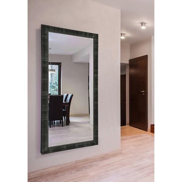 American Made Extra Large 38 x 77-inch Tuscan Ebony Vanity Wall Mirror - Antique Black, Black, Dark Ebony