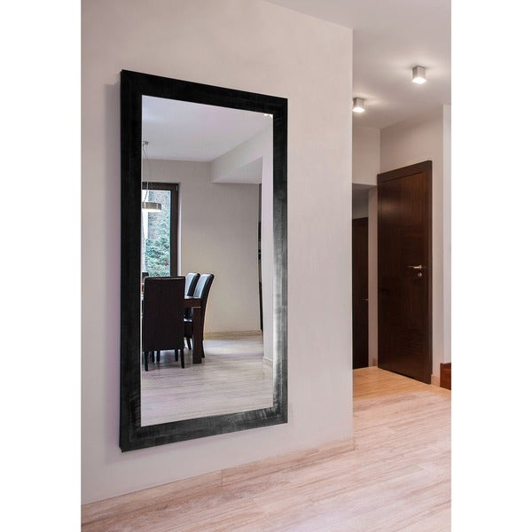 American Made Extra Large 37 x 76-inch Black Smoke Vanity Wall Mirror - Black/Grey