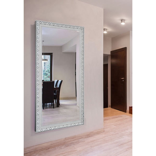Rayne Extra Large French Victorian White Wall/ Vanity Mirror