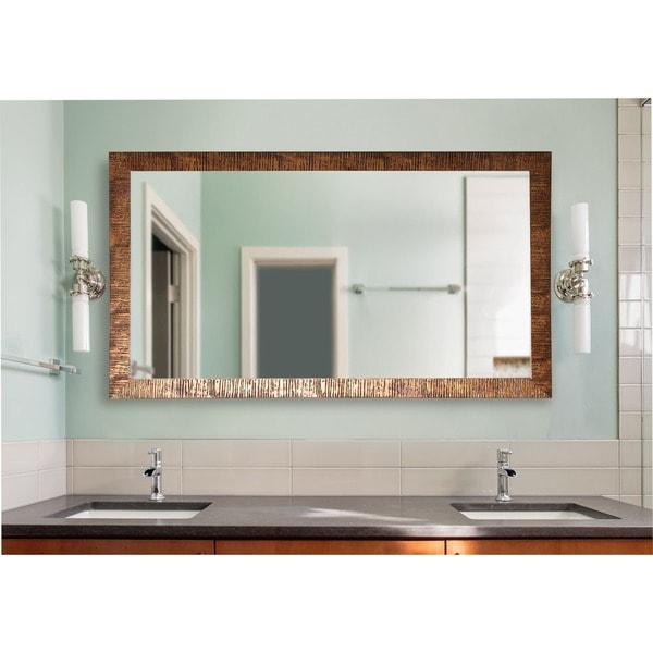 American Made Extra Large Safari Bronze Wall Mirror - Bronze/Black