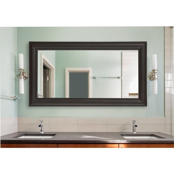 American Made Extra Large 38.5 x 77.5-inch Brazilian Walnut Vanity Wall Mirror
