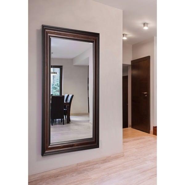 American Made Rayne Extra Large American Walnut Wall/ Vanity Mirror