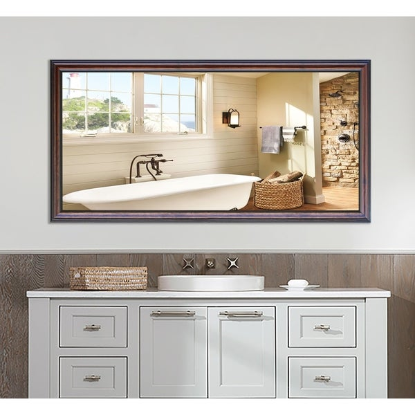 U.S Made Extra Large American Walnut Wall/ Vanity Mirror