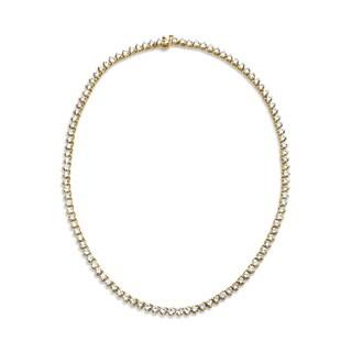 SummerRose, Diamond Line Necklace 18kt Yellow Gold