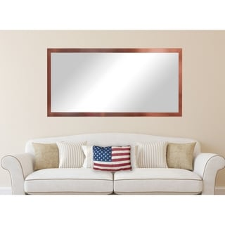 American Made Rayne Extra Large Shiny Bronze Wall/ Vanity Mirror