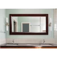 American Made Rayne Extra Large Dark Walnut Wall/ Vanity Mirror