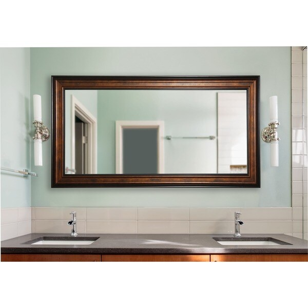 American Made Rayne Extra Large 42.25 x 81.25-inch Bronze and Black Vanity Wall Mirror - Bronze/Black