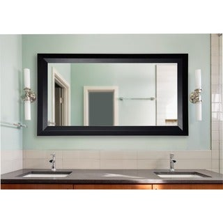 American Made Rayne Extra Large Solid Black Angle Wall/ Vanity Mirror