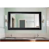 American Made Extra Large Solid Black Angle Wall/ Vanity Mirror