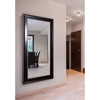 American Made Rayne Extra Large Black with Silver Caged Trim Mirror