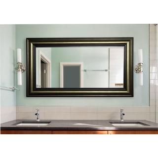 American Made Rayne Extra Large 42.5 x 81.4-inch Stepped Antiqued Vanity Wall Mirror