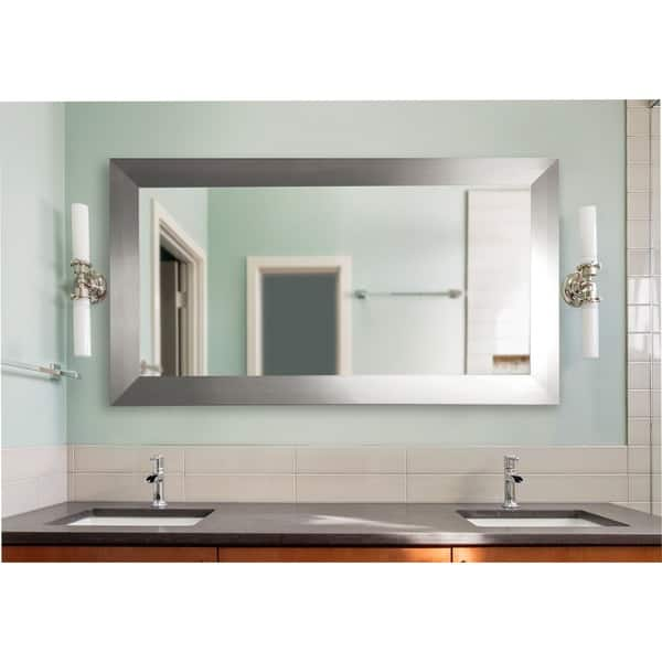 American Made Extra Large Silver Wide Floor Vanity