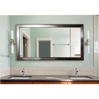 American Made Extra Large Silver Rounded Mirror