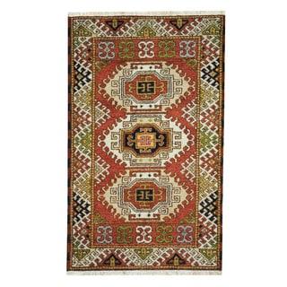 Handmade One-of-a-Kind Kazak Wool Rug (India) - 3'2 x 5'1