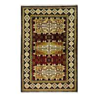 Herat Oriental Indo Hand-knotted Tribal Kazak Wool Rug - 3'2 x 4'10