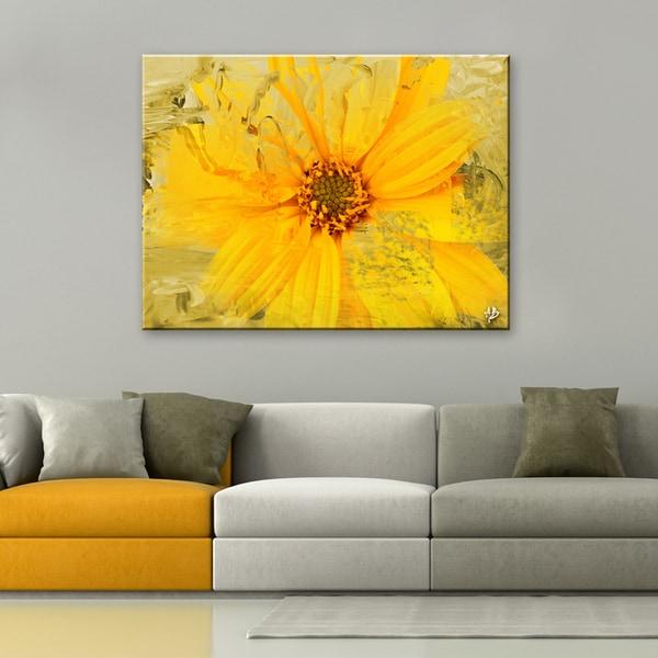 Ready2HangArt \'Painted Petals XXXVI\' Canvas Wall Art - YELLOW - Free ...