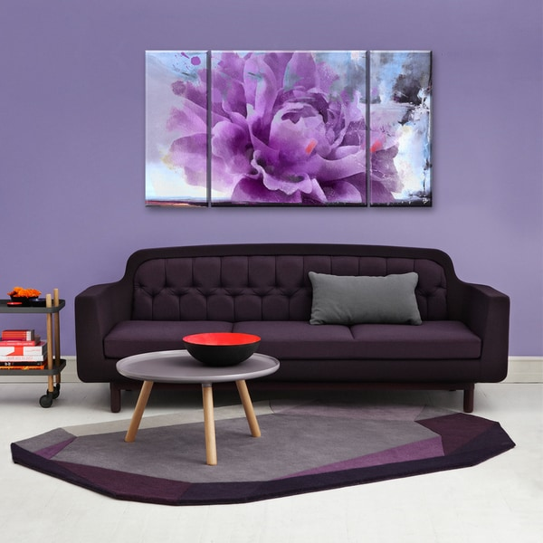 Ready2HangArt 'Painted Petals LI' 3-piece Canvas Wall Art Set