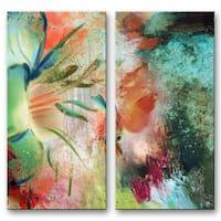 Ready2HangArt 'Painted Petals LIX' Canvas Wall Art