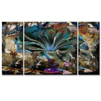 Ready2HangArt 'Painted Petals LVIII' 3-piece Canvas Wall Art Set - Multi-color