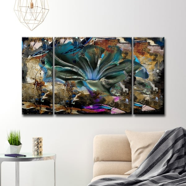 Shop Ready2hangart Painted Petals Lviii 3 Piece Canvas Wall Art
