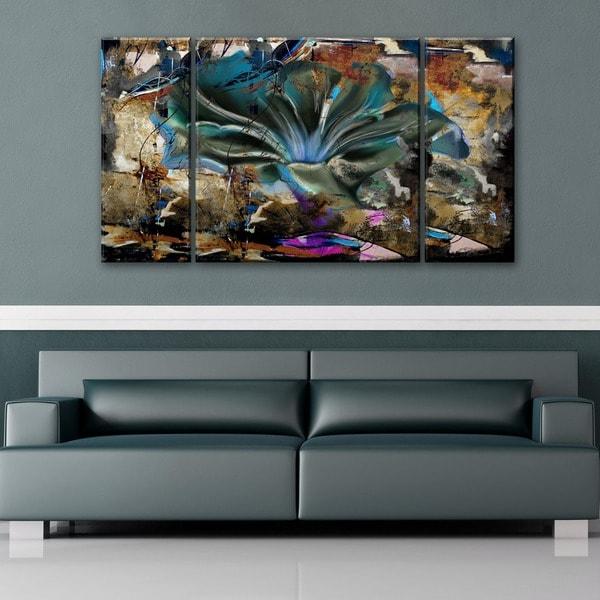 Ready2HangArt 'Painted Petals LVIII' 3-piece Canvas Wall Art Set
