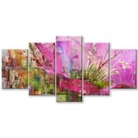 Ready2HangArt 'Painted Petals LVII' Canvas Wall Art