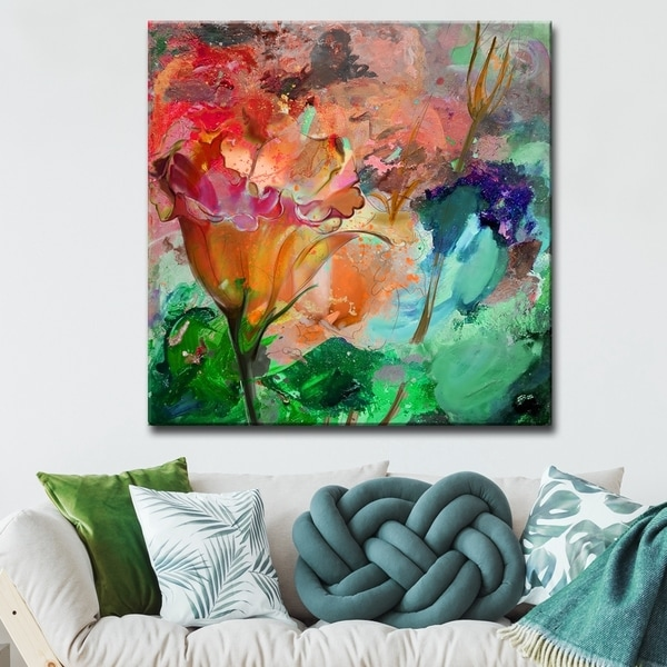 Ready2HangArt 'Painted Petals LXI' Gallery-wrapped Canvas Wall Art - Multi-color. Opens flyout.