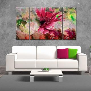 Ready2HangArt 'Painted Petals LXIV' 3-piece Canvas Wall Art Set