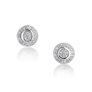 SummerRose 14kt White Gold Pave Set Earrings (H-I, SI1-SI2)