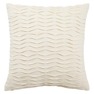 Handmade Solid Ivory 20-inch Throw Pillow