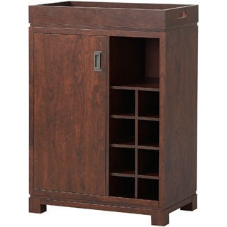 Wooden Wine Cabinet with Removable Tray