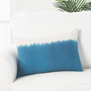 Handmade Abstract Pattern Cotton Blue Throw Pillow