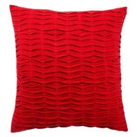Handmade 20-inch Solid Red Throw Pillow