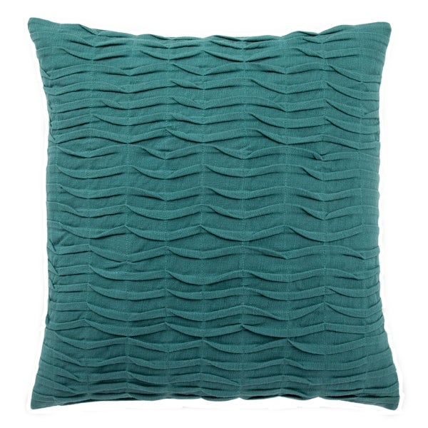 Handmade 20-inch Solid Blue Throw Pillow