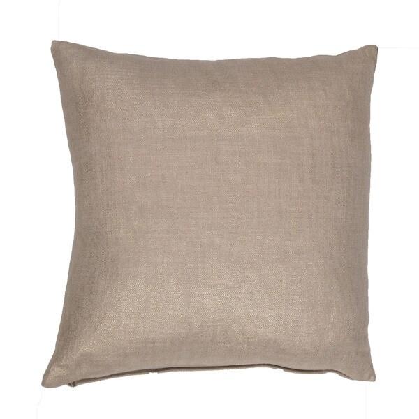 Handmade Solid Beige 18-inch Throw Pillow