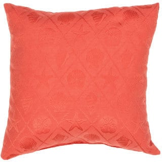 Handmade Solid Red 18-inch Throw Pillow