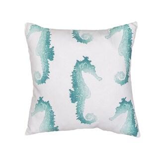 Handmade Animal Print Blue 18-inch Throw Pillow
