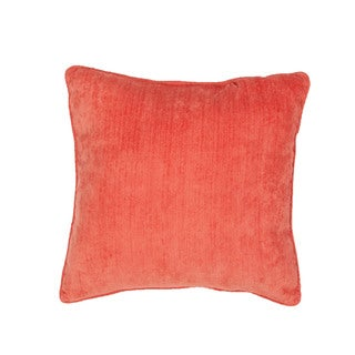 Handmade Solid Red 20-inch Throw Pillow